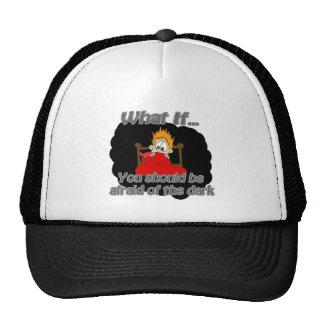 afraid of the dark trucker hat