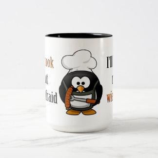 Afraid to burn my wiener 2 Two-Tone coffee mug