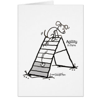 Aframe: Agility dog cartoon - A-Game - agility Card