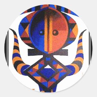 Africa2 Classic Round Sticker