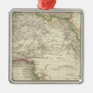 África 10 adorno cuadrado plateado