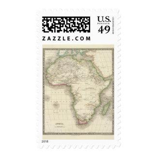 África 10 sellos postales