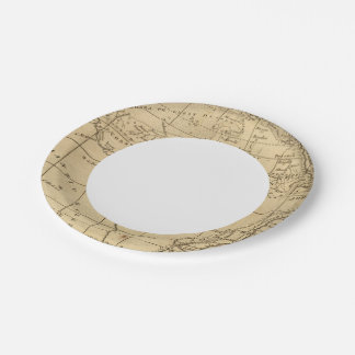 África 11 plato de papel de 7 pulgadas
