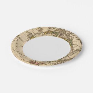 África 16 plato de papel de 7 pulgadas