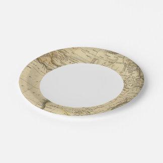 África 17 plato de papel de 7 pulgadas