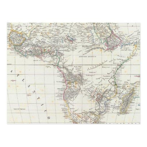 África 18 tarjetas postales