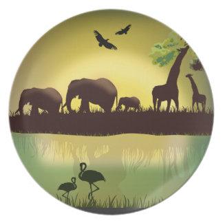 África 1 placa platos