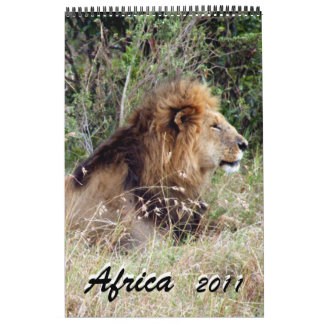 africa 2011 15 month single page calendar