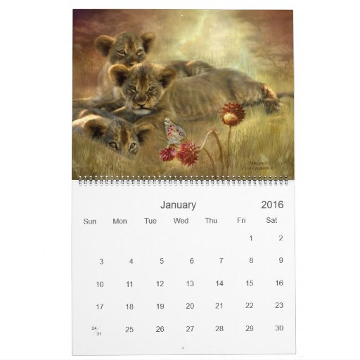 Africa 2011 Art Calendar