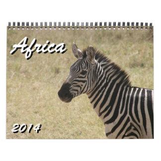 África 2014 calendarios