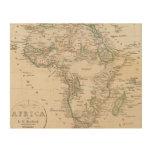 África 21 impresión en madera