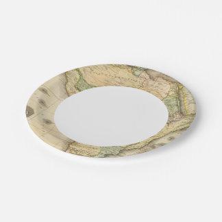 África 23 plato de papel de 7 pulgadas