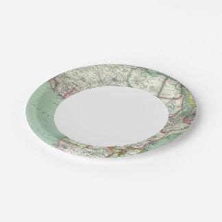 África 24 plato de papel de 7 pulgadas