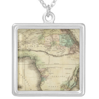 Africa 25 square pendant necklace