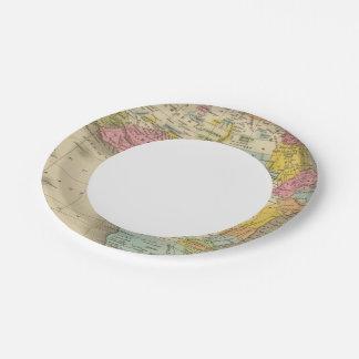 África 27 plato de papel de 7 pulgadas