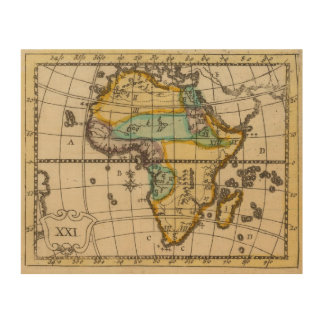 Africa 2 wood canvas