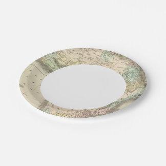 África 32 plato de papel de 7 pulgadas