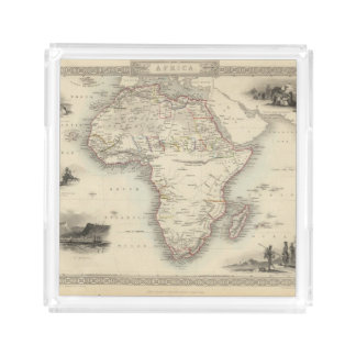 Africa 33 square serving trays