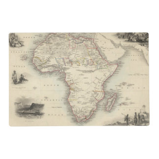 Africa 33 laminated place mat