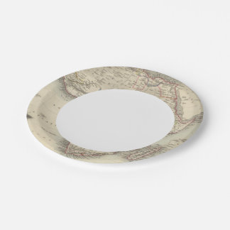 África 33 plato de papel de 7 pulgadas