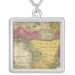 Africa 33 square pendant necklace