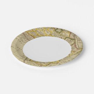 África 34 plato de papel de 7 pulgadas