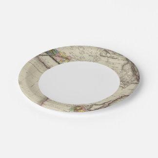África 35 plato de papel de 7 pulgadas