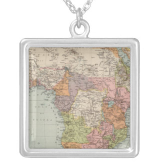 Africa 35 square pendant necklace