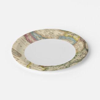 África 36 plato de papel de 7 pulgadas