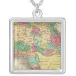 Africa 38 square pendant necklace