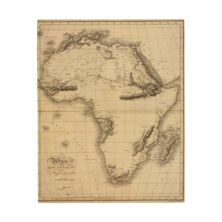 África 39 impresión en madera