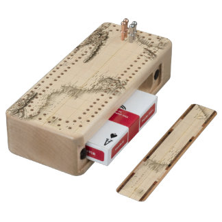 Africa 39 maple cribbage board