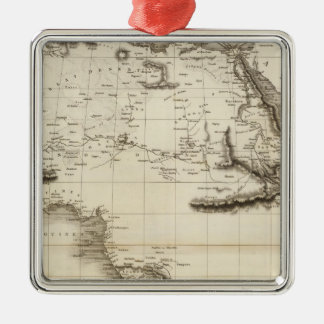Africa 39 square metal christmas ornament