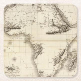 Africa 39 square paper coaster
