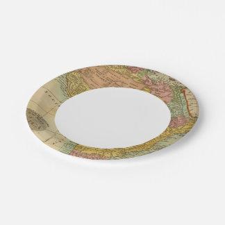 África 3 2 plato de papel de 7 pulgadas