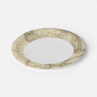 África 3 plato de papel de 7 pulgadas