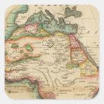 África 43 calcomania cuadradas personalizadas