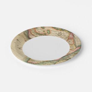África 43 plato de papel de 7 pulgadas
