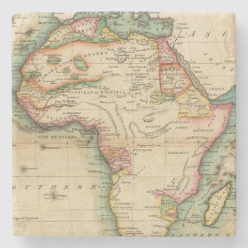 África 43 posavasos de piedra