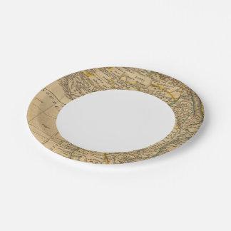 África 45 plato de papel de 7 pulgadas