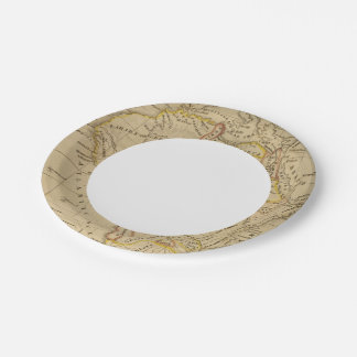 África 4 plato de papel de 7 pulgadas