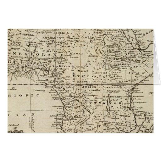 África 4 tarjeta de felicitación
