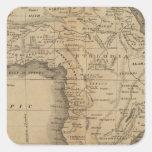 África 50 pegatina cuadrada