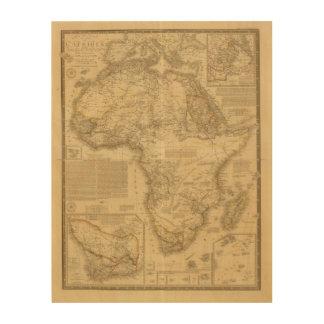 África 5 cuadros de madera
