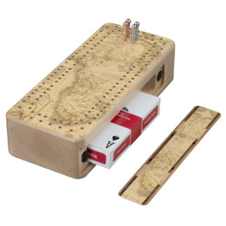 Africa 5 wood cribbage board