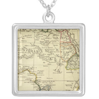 Africa 6 square pendant necklace