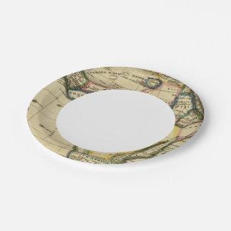 África 7 plato de papel de 7 pulgadas