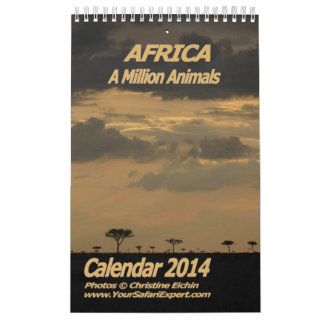 AFRICA - A Million Animals Calendar 2014 Single Pg