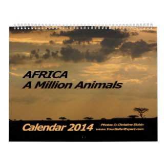 AFRICA - A Million Animals Calendar 2014 (Two-Page