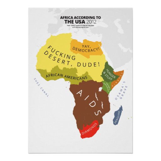 Africa According to the USA Poster
